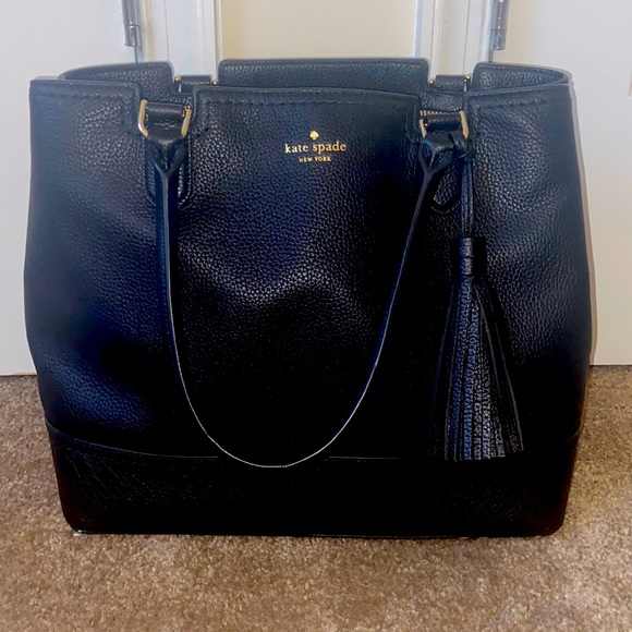 Kate Spade - Medium Black Leather Satchel